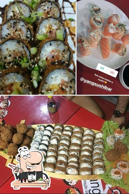 Peça diferentes opções de sushi