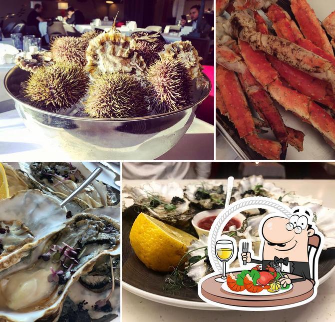 Pide las distintas comidas con marisco disponibles en RoseMary