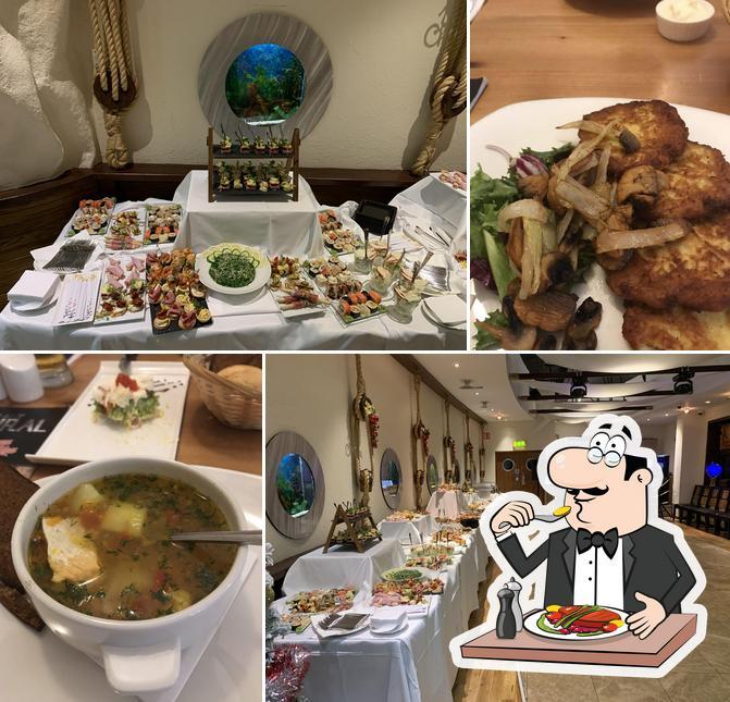 Food at Admiral restaurant