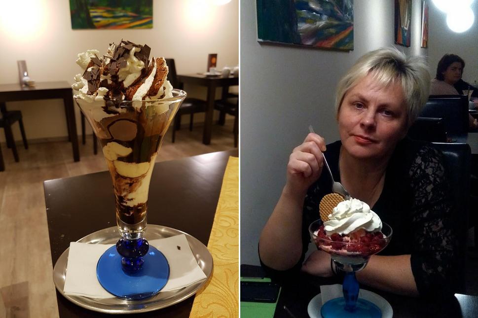 Café Nikolai bietet eine Auswahl von Süßspeisen
