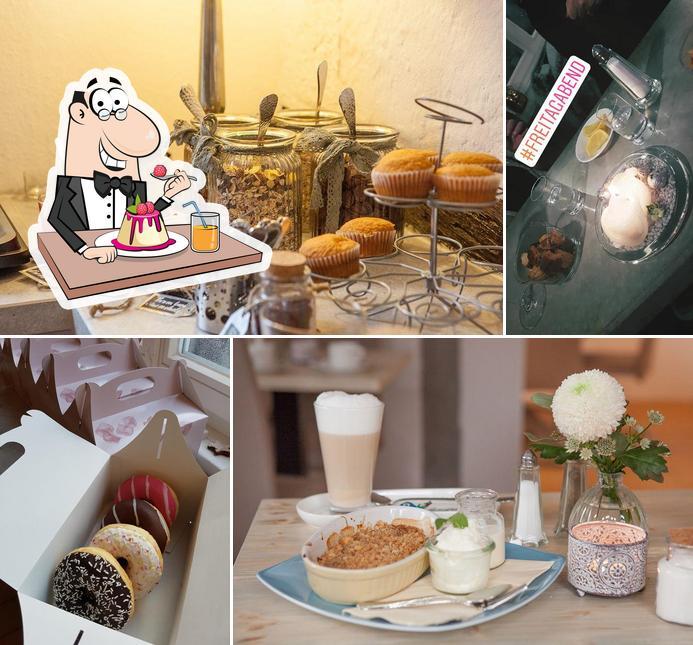 Seligmacherei bietet eine Auswahl von Desserts