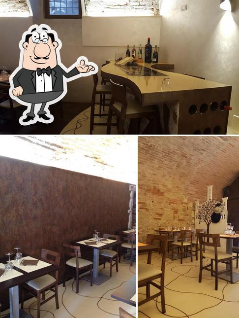 Gli interni di Osteria di Castelvecchio
