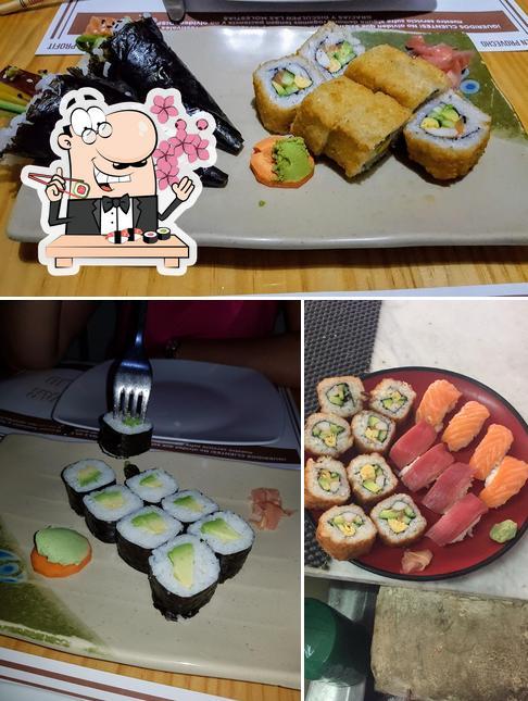 Elige uno de sus diferentes tipos de sushi