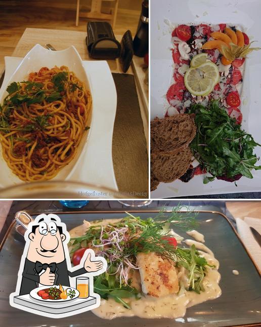 Essen im Restaurant Hofgeflüster