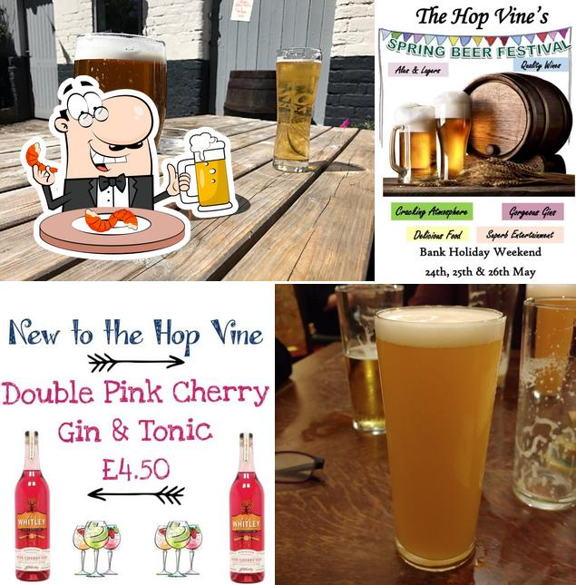 The Hop Vine provides a range of beers