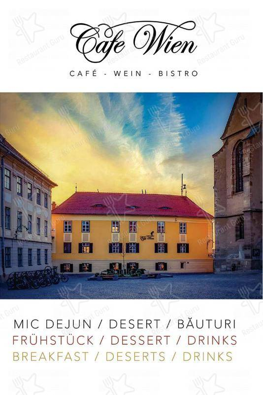 Cafe Wien menu - dishes and beverages