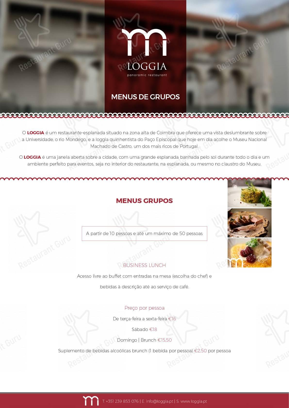 Loggia menu - pratos e drinques