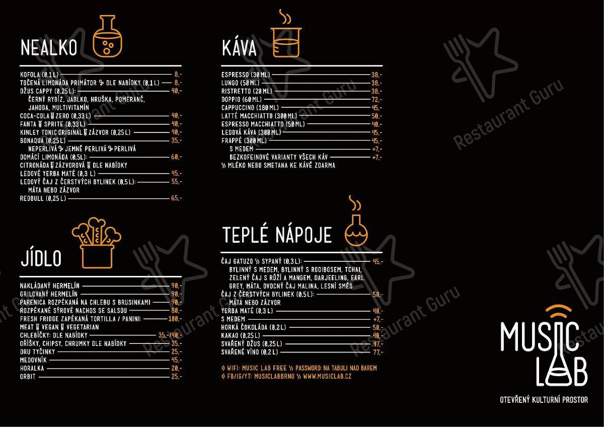 Music Lab menu