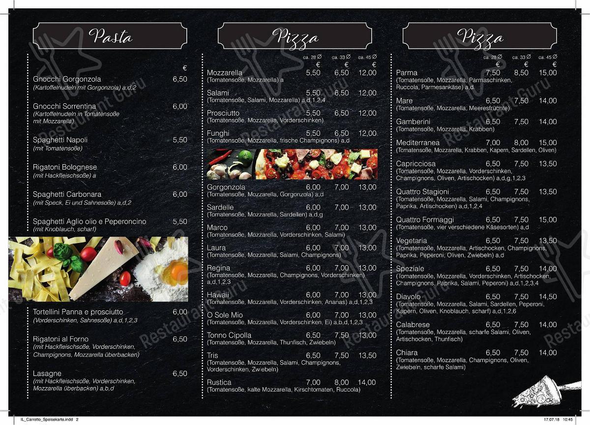 IL Carretto Speisekarte - Pizzeria-Il-CARRETTO-IL-Carretto-Speisekarte
