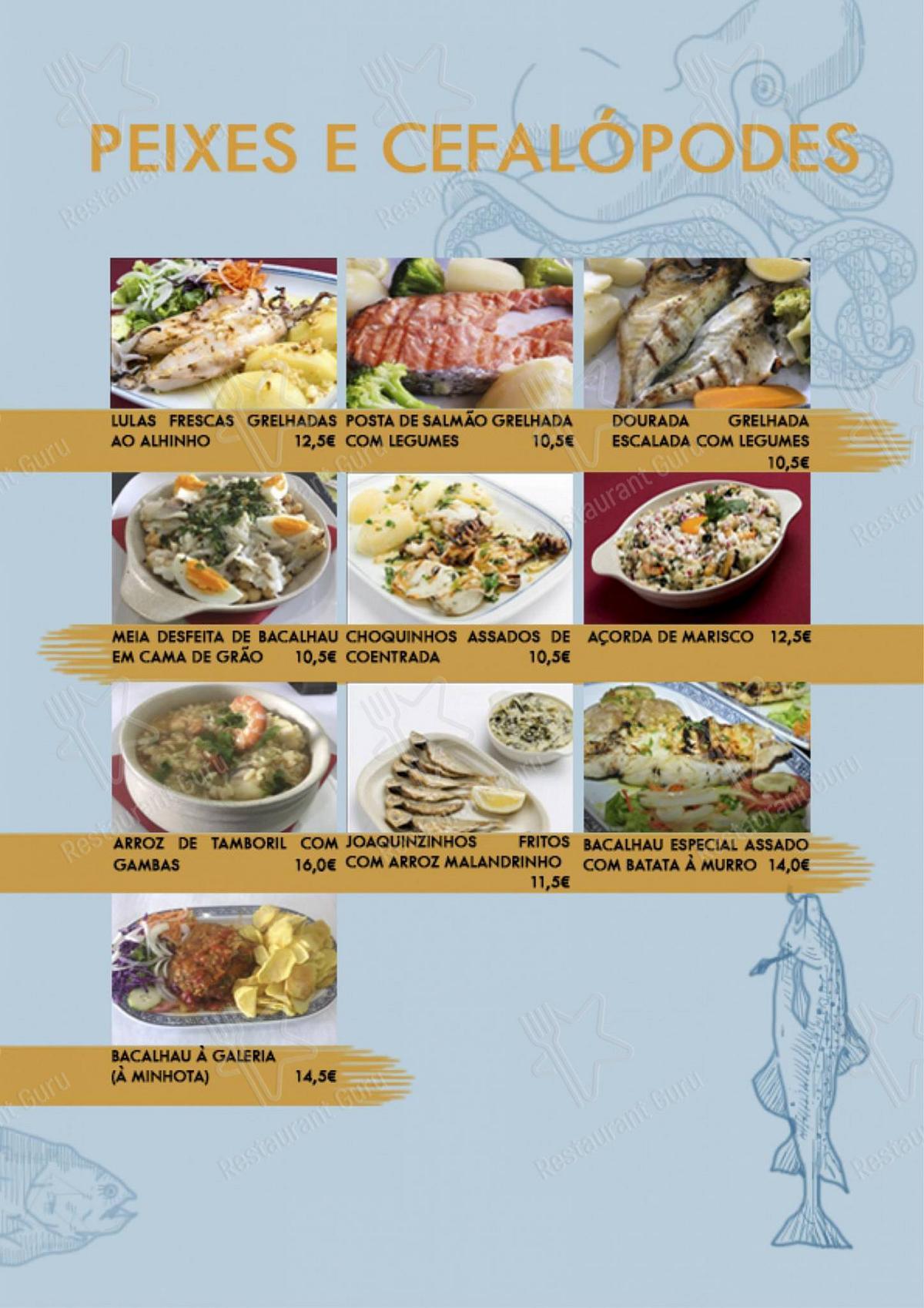 Galeria menu - pratos e drinques