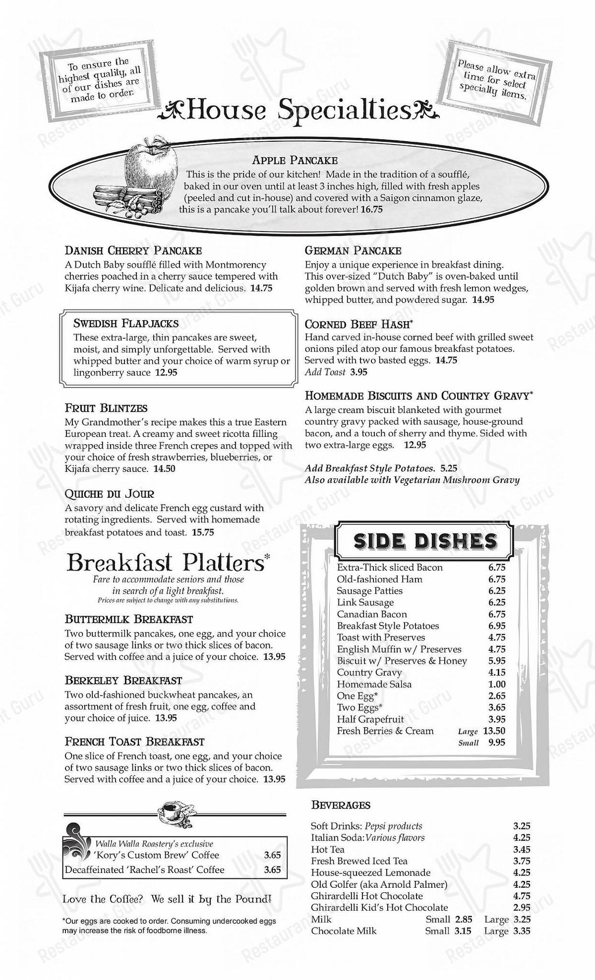 Check out the menu for The Maple Counter Cafe