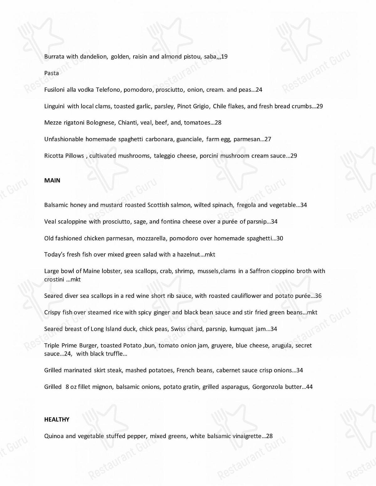 Check out the menu for 75 Main