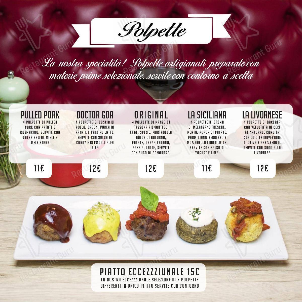 Meatball Family Speisekarte - Essen und Getränke