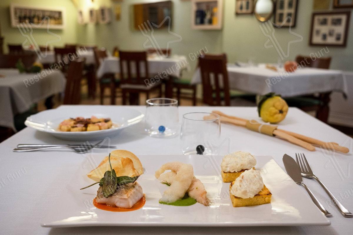 Меню Osteria di Mezzo - еда и напитки