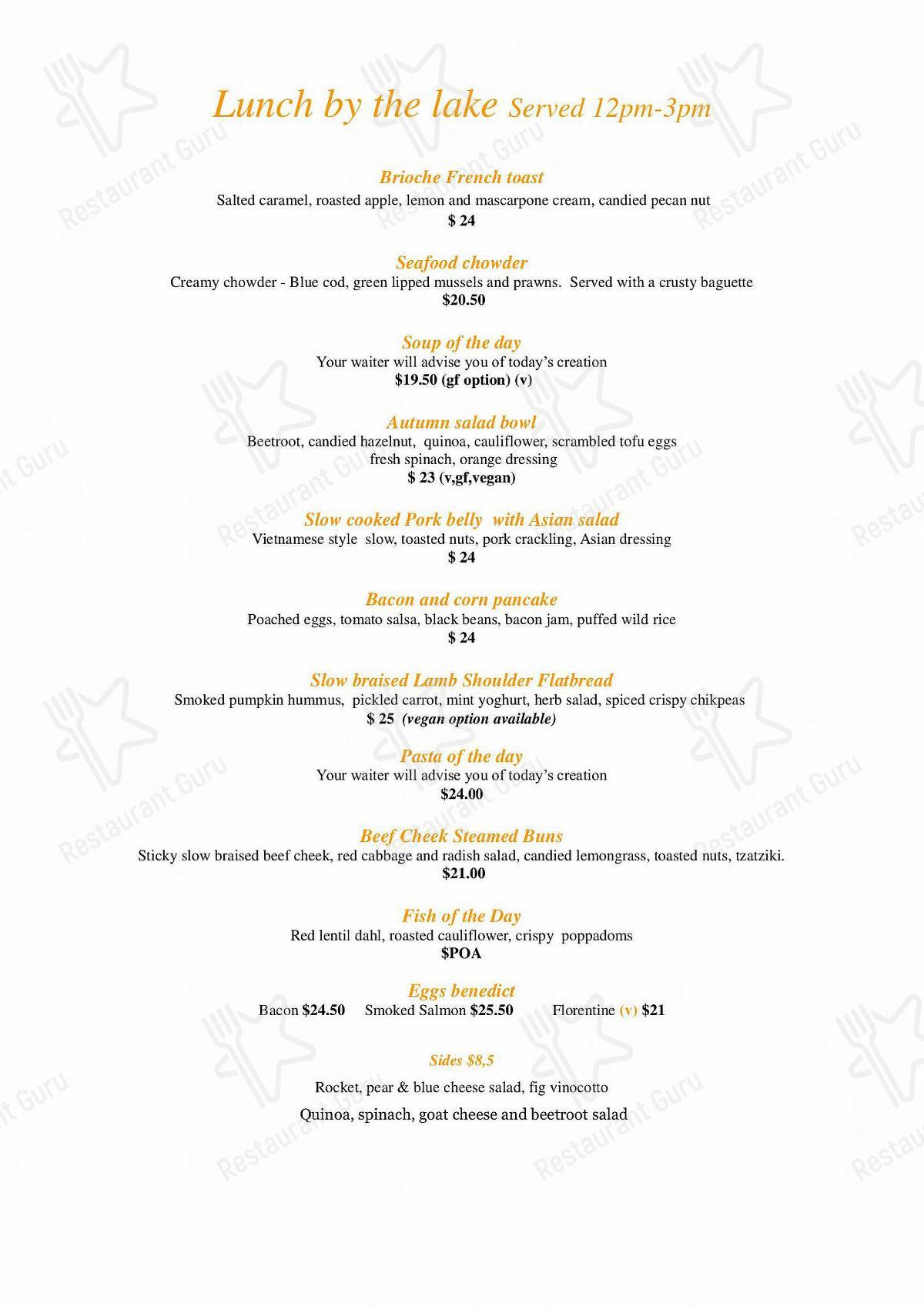 The Bathhouse menu