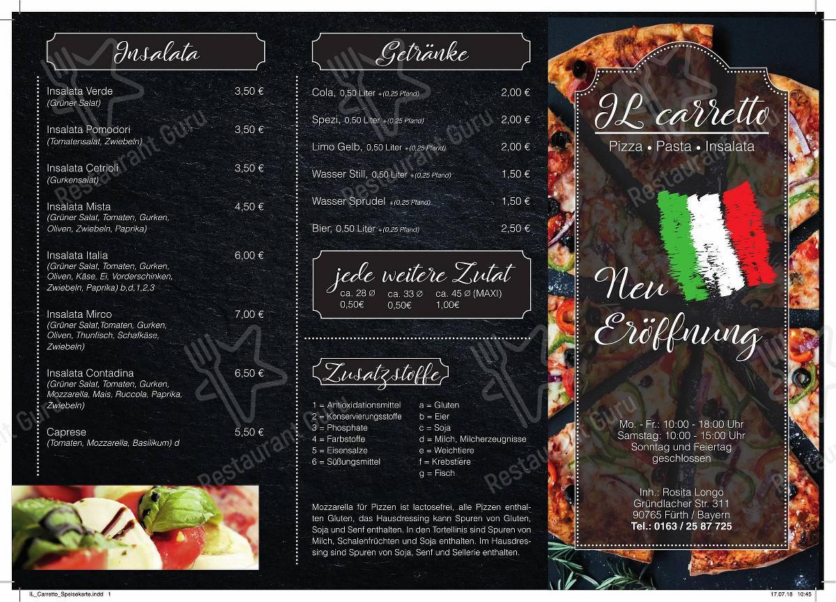 IL Carretto in Fürth - Pizzeria-Il-CARRETTO-IL-Carretto-Speisekarte