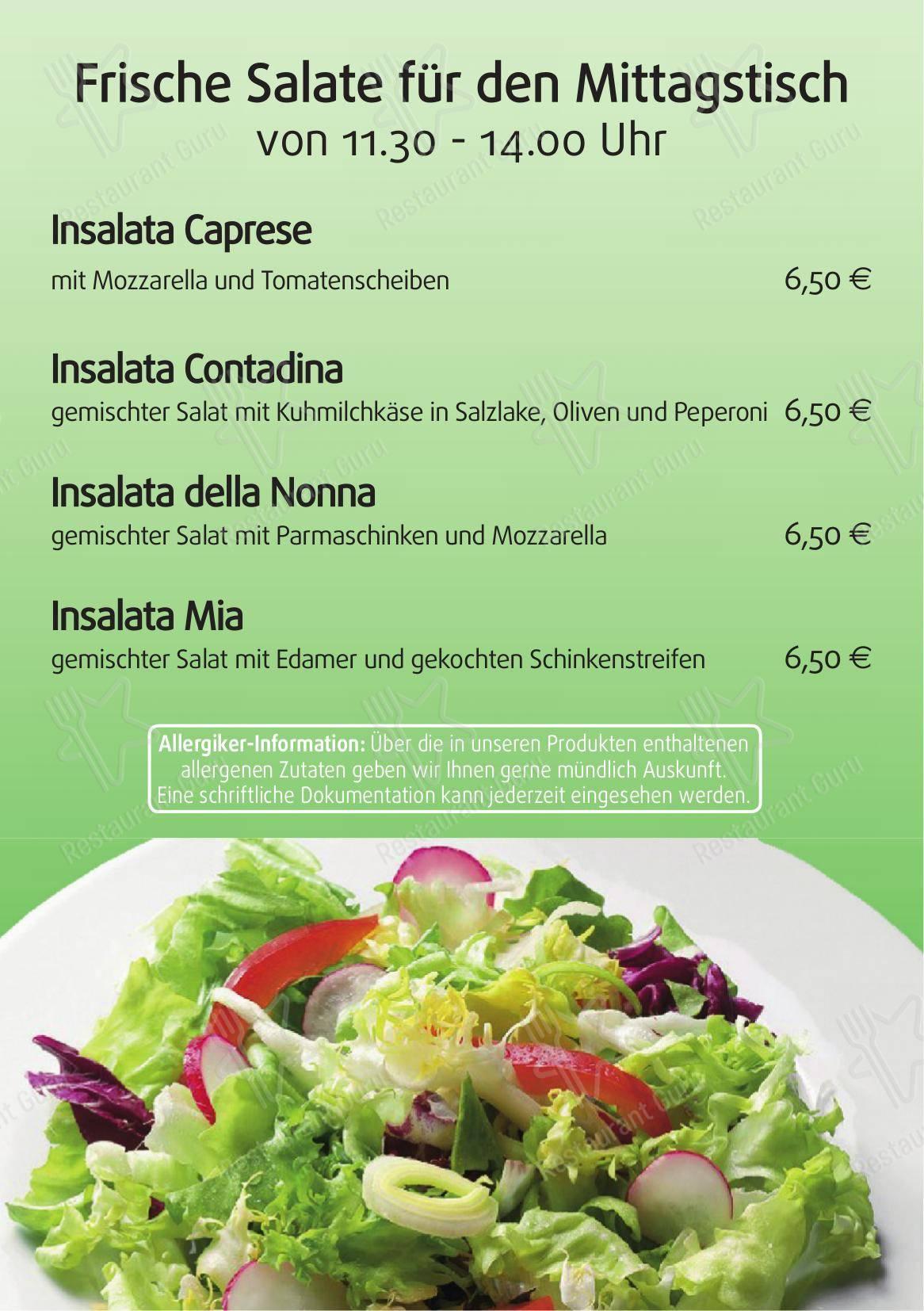 Ars Vivendi Speisekarte - Essen und Getränke
