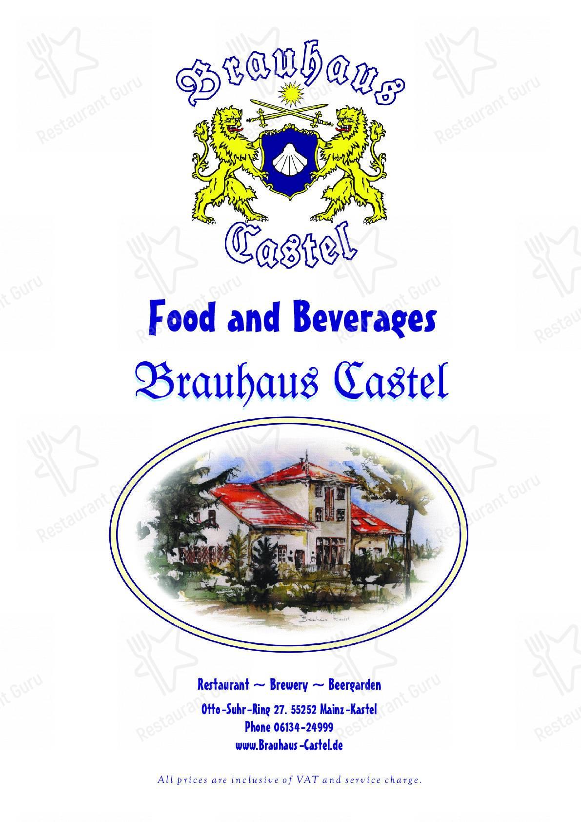 Brauhaus Castel Speisekarte - Gerichte und Getränke