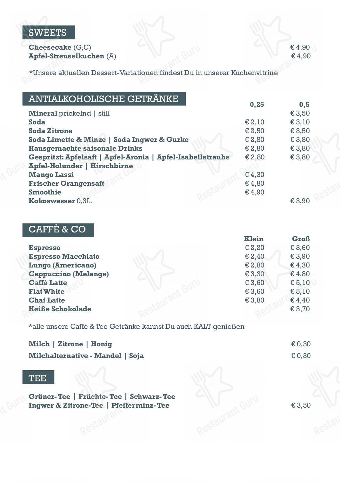 Speisekarte Von Health Kitchen Restaurant Wien Wollzeile 31