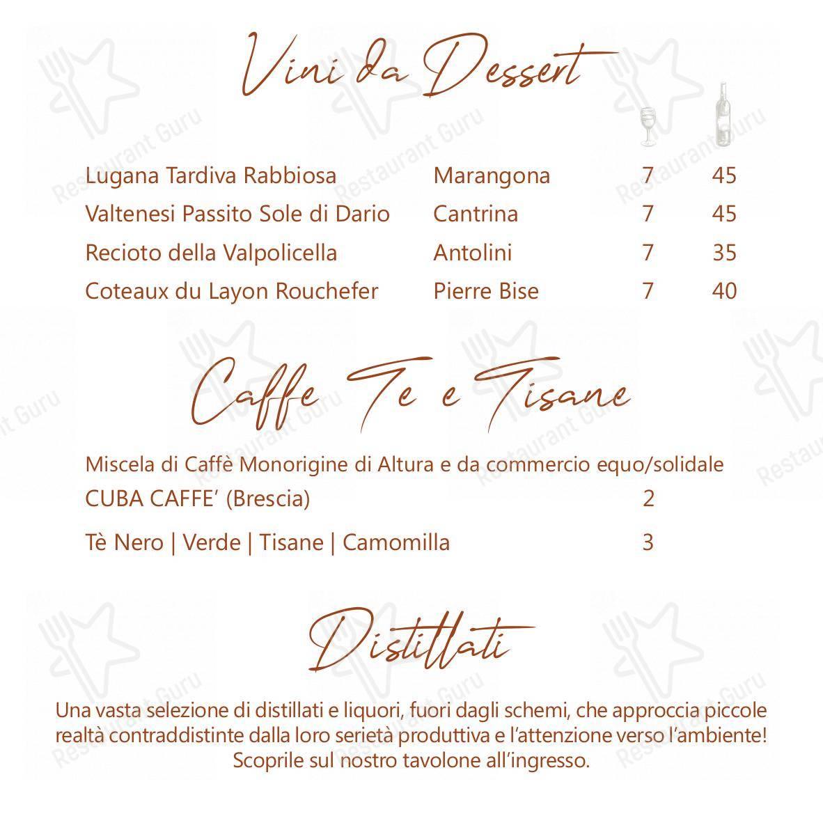 Menu per La Lepre Ristorante ristorante