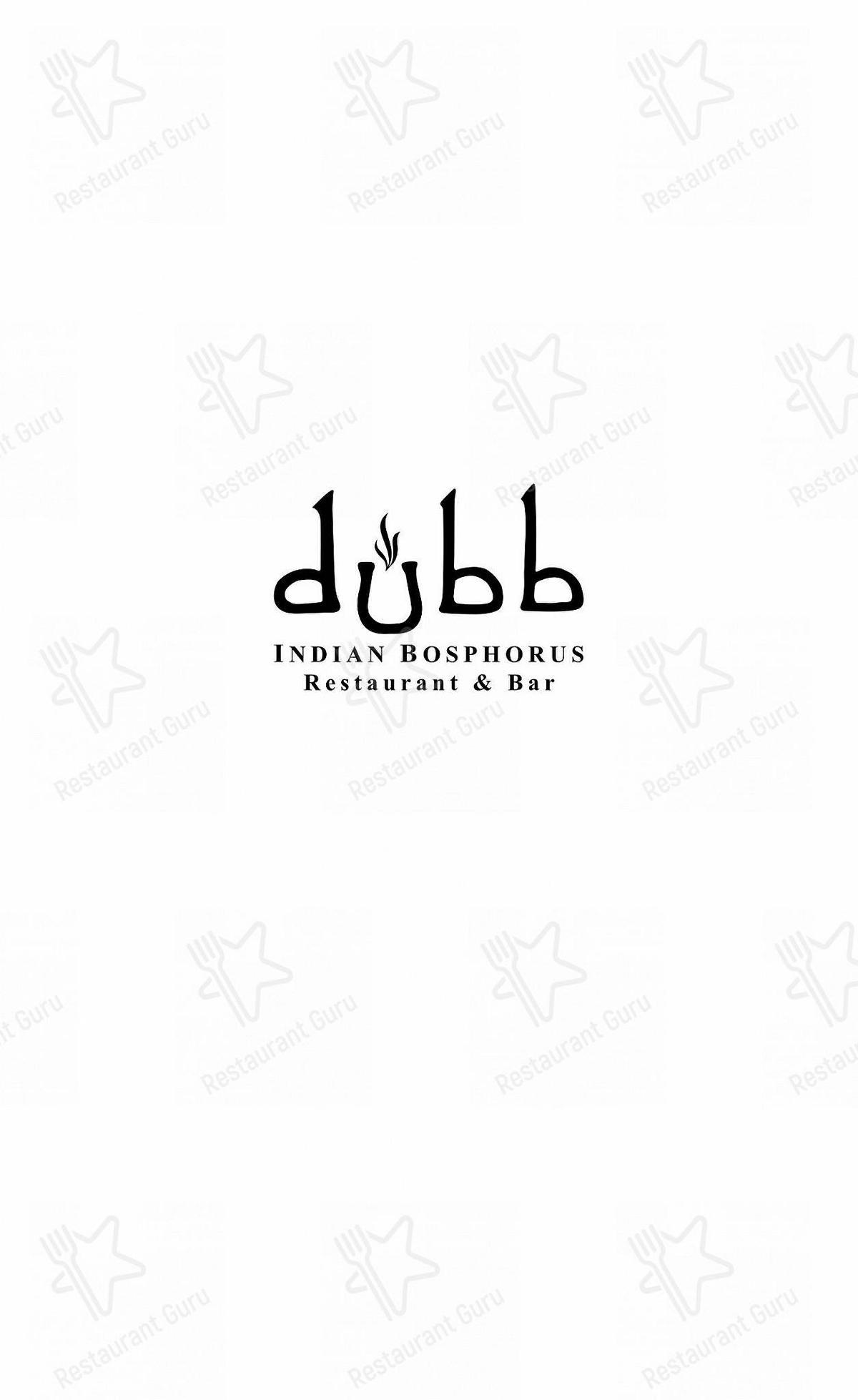Взгляните на меню Dubb Indian Bosphorus Restaurant