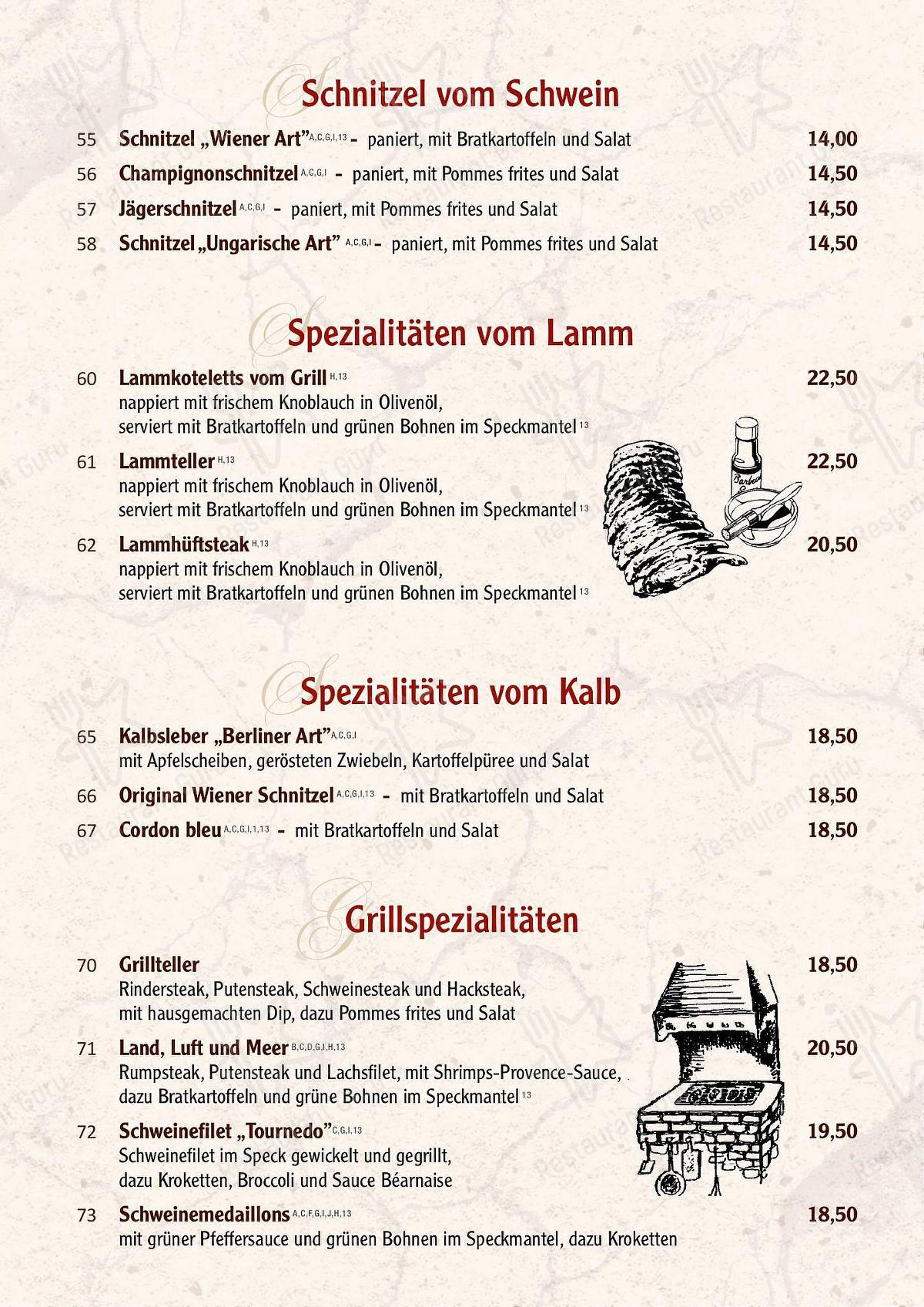 Forsthaus in Mülheim an der Ruhr - Speisekarte Restaurant
