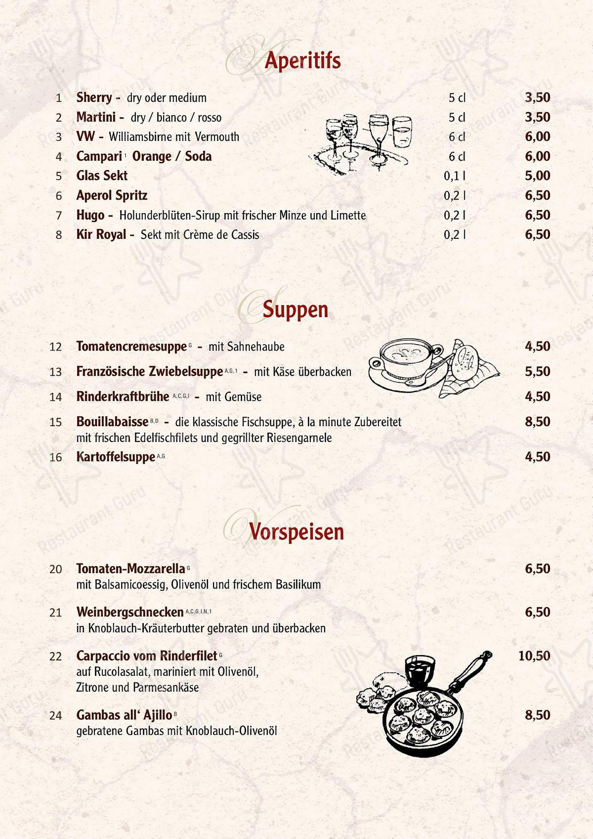 Speisekarte Restaurant von Forsthaus restaurant