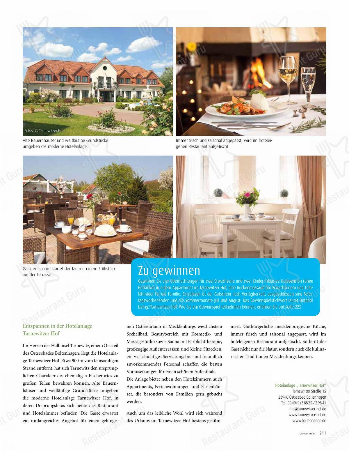 Découvrez le menu pour Tarnewitzer Hof