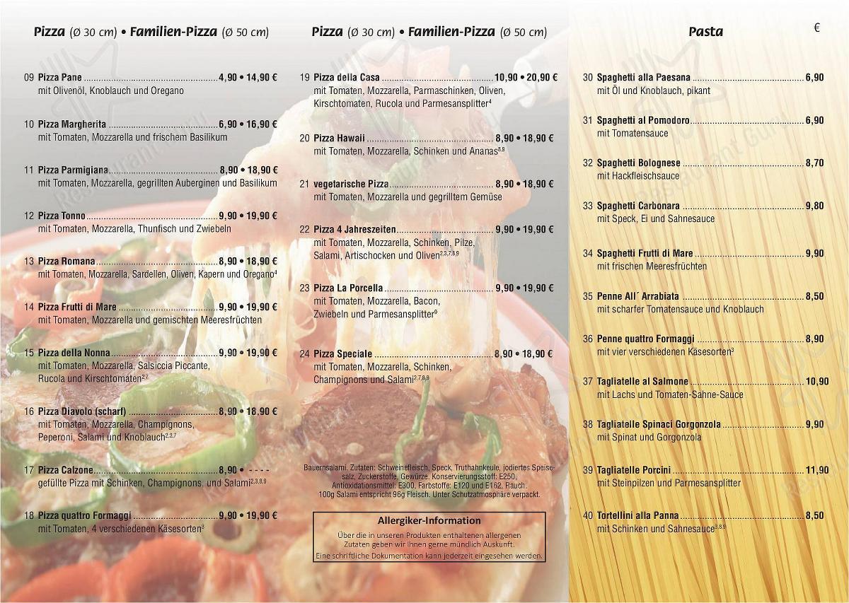 Speisekarte von Ars Vivendi pizza