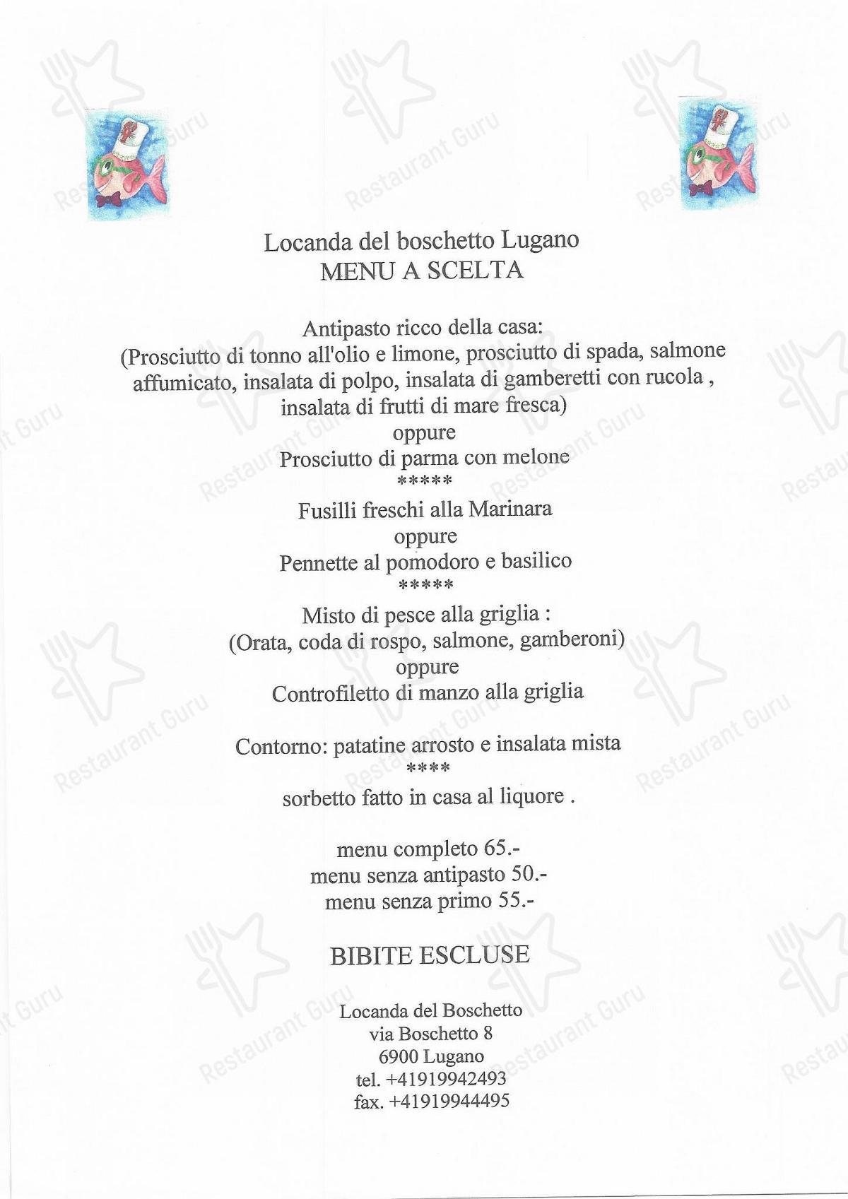 Locanda Del Boschetto Speisekarte