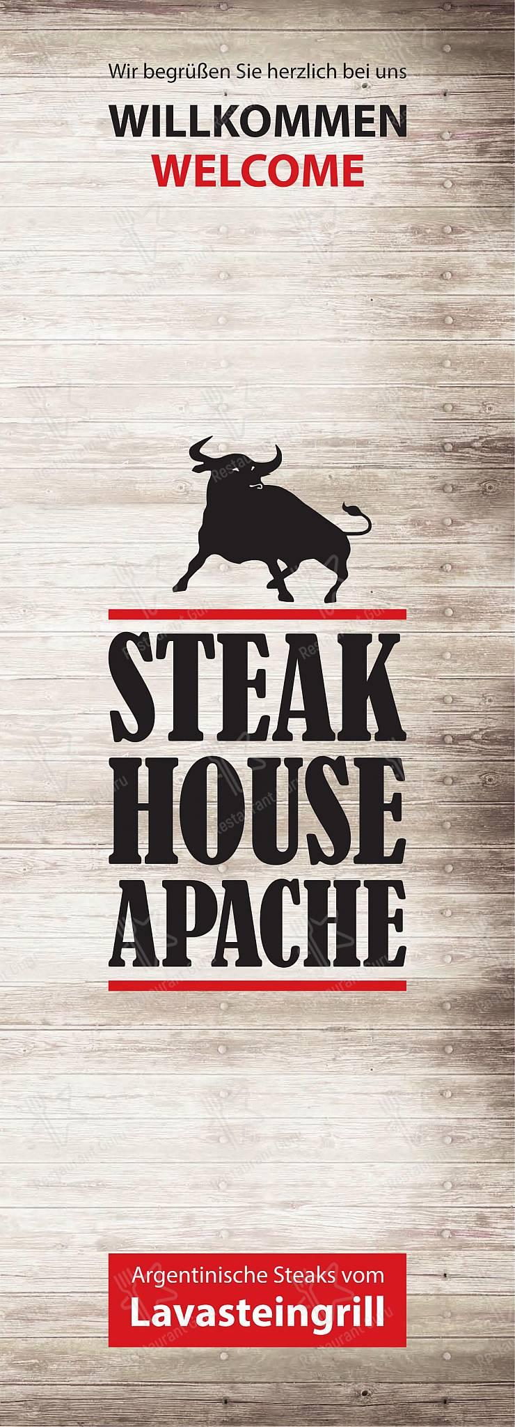 Seht euch die Speisekarte von Steakhouse Apache an