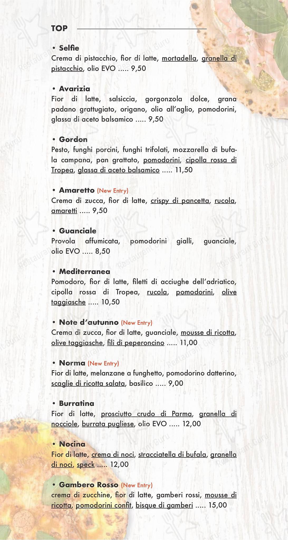 Взгляните на меню Selfie social pizza & restaurant