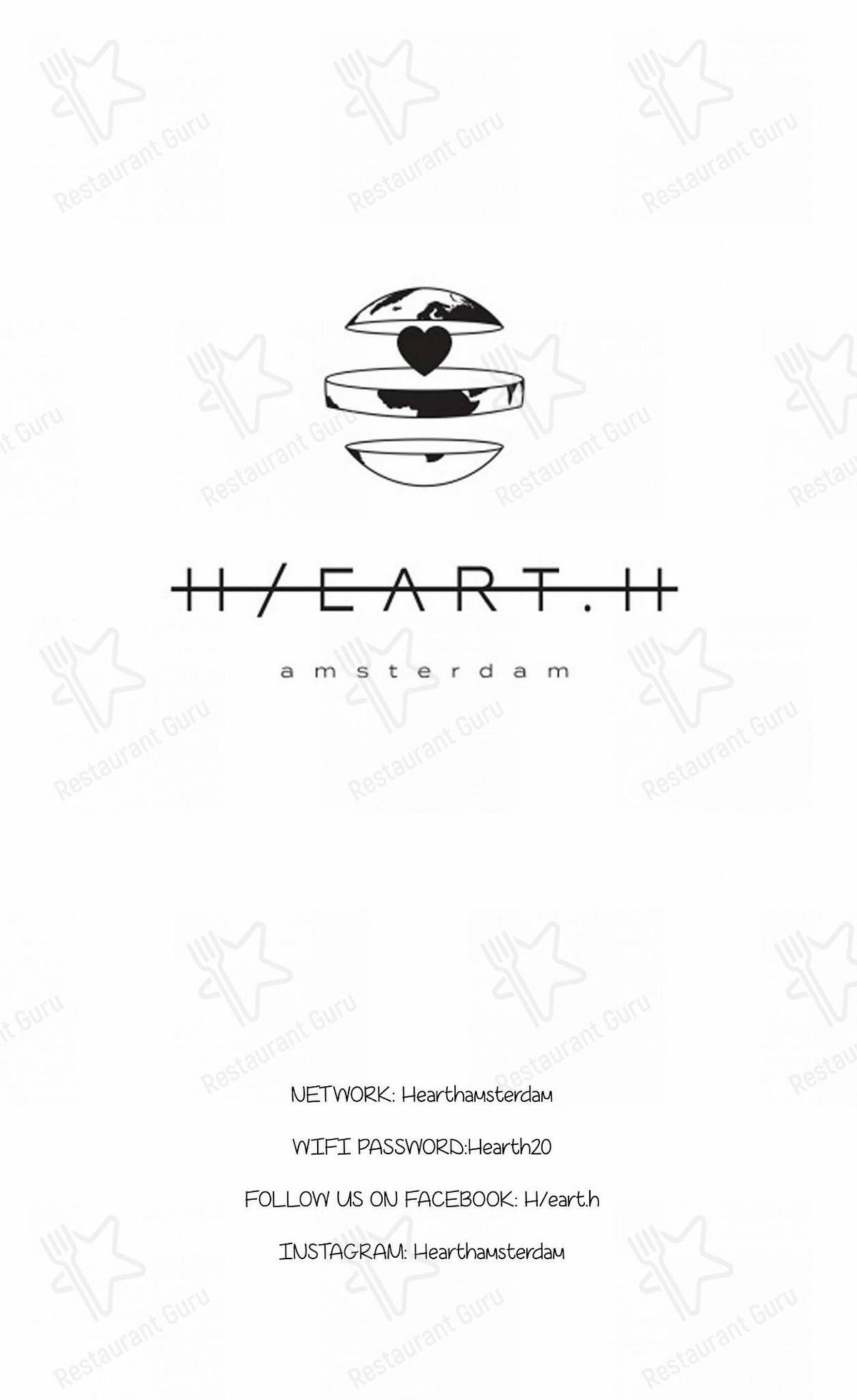 Hearth Speisekarte