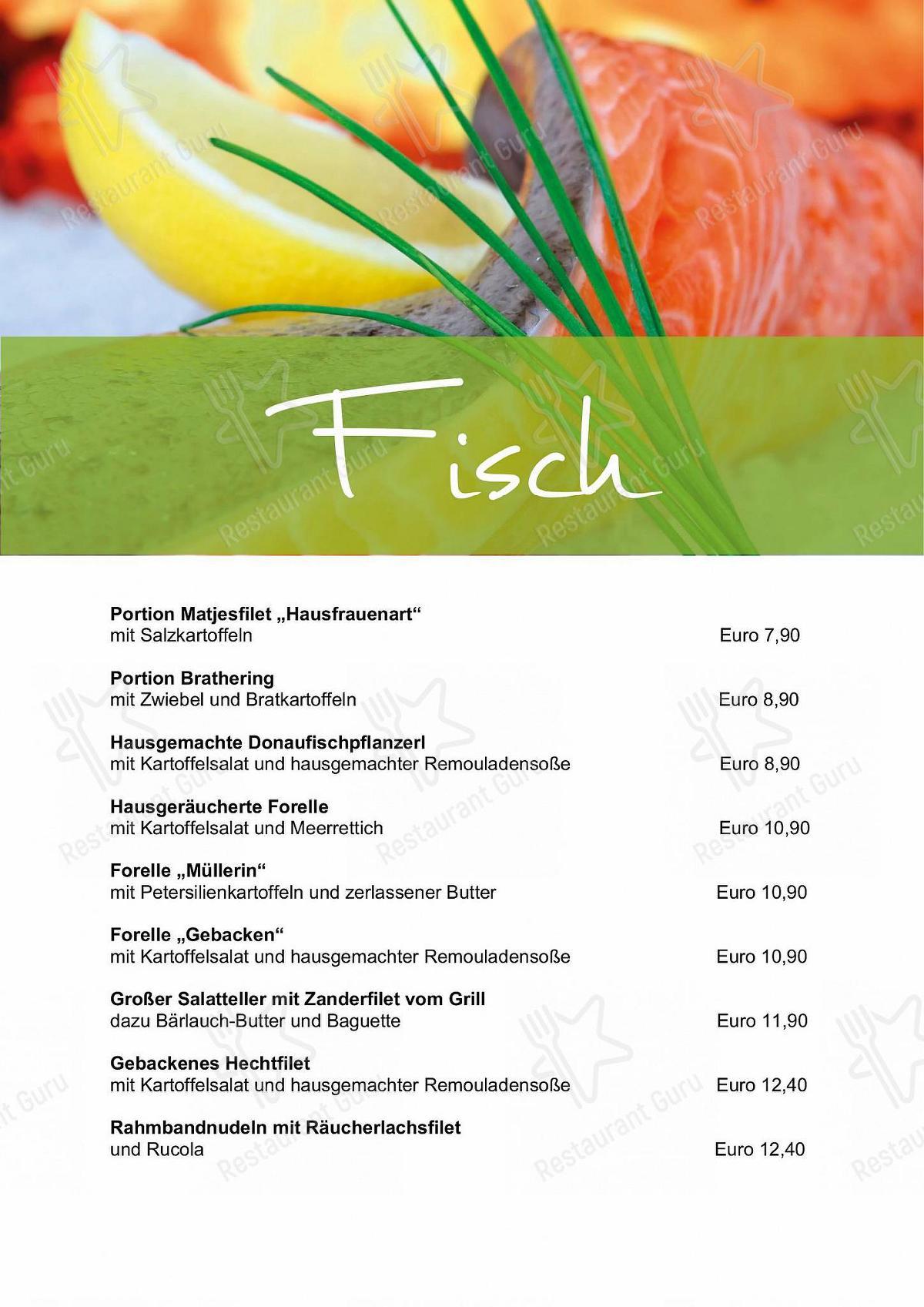 Speisekarte Von Hotel Cafe Rathaus Zum Fischerwirt Cafe Bad Abbach