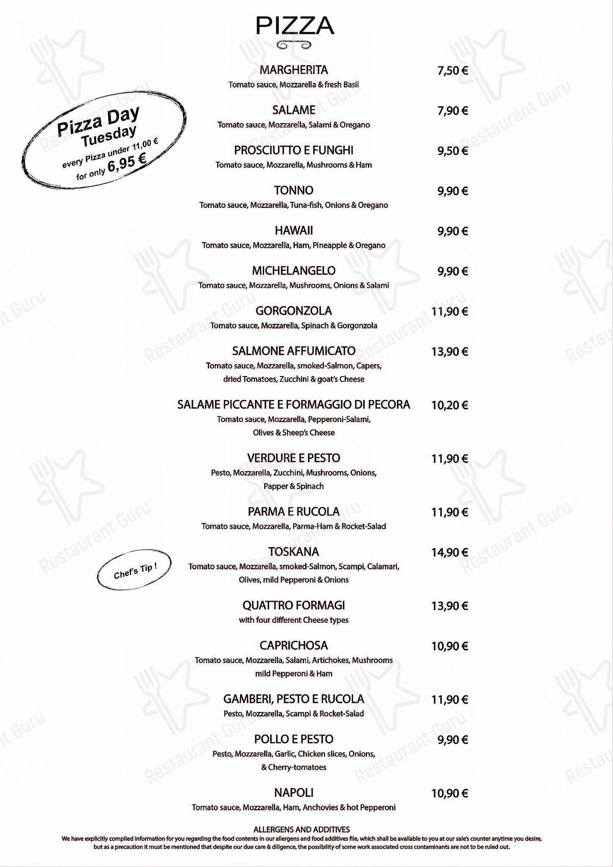 Seht euch die Speisekarte von Toskana Leipzig an