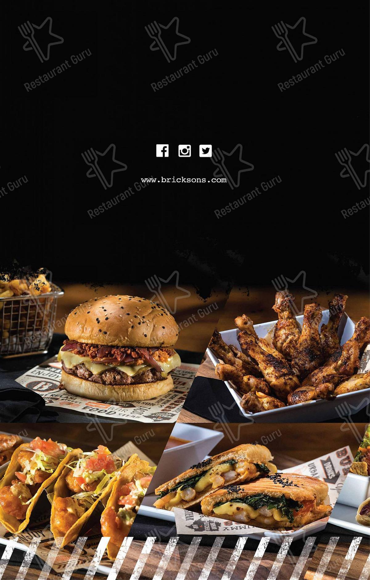 Mira la carta de Brickson's Urban Kitchen + Bar