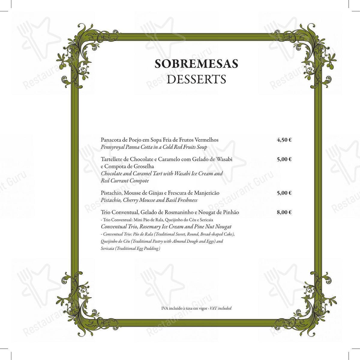 Explore o menu para Restaurante Mercearia Eborim