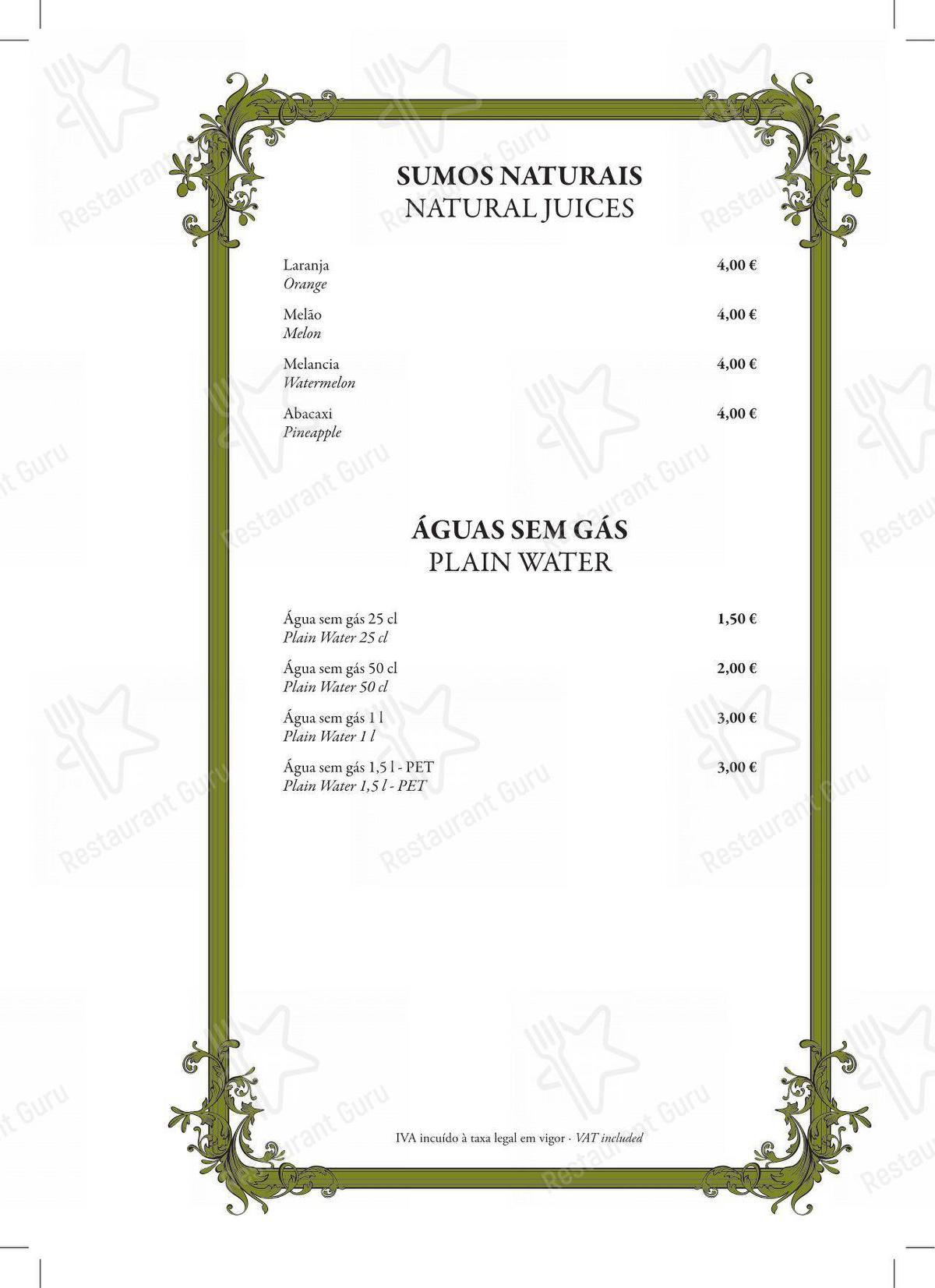 Bar menu para Restaurante Mercearia Eborim restaurante
