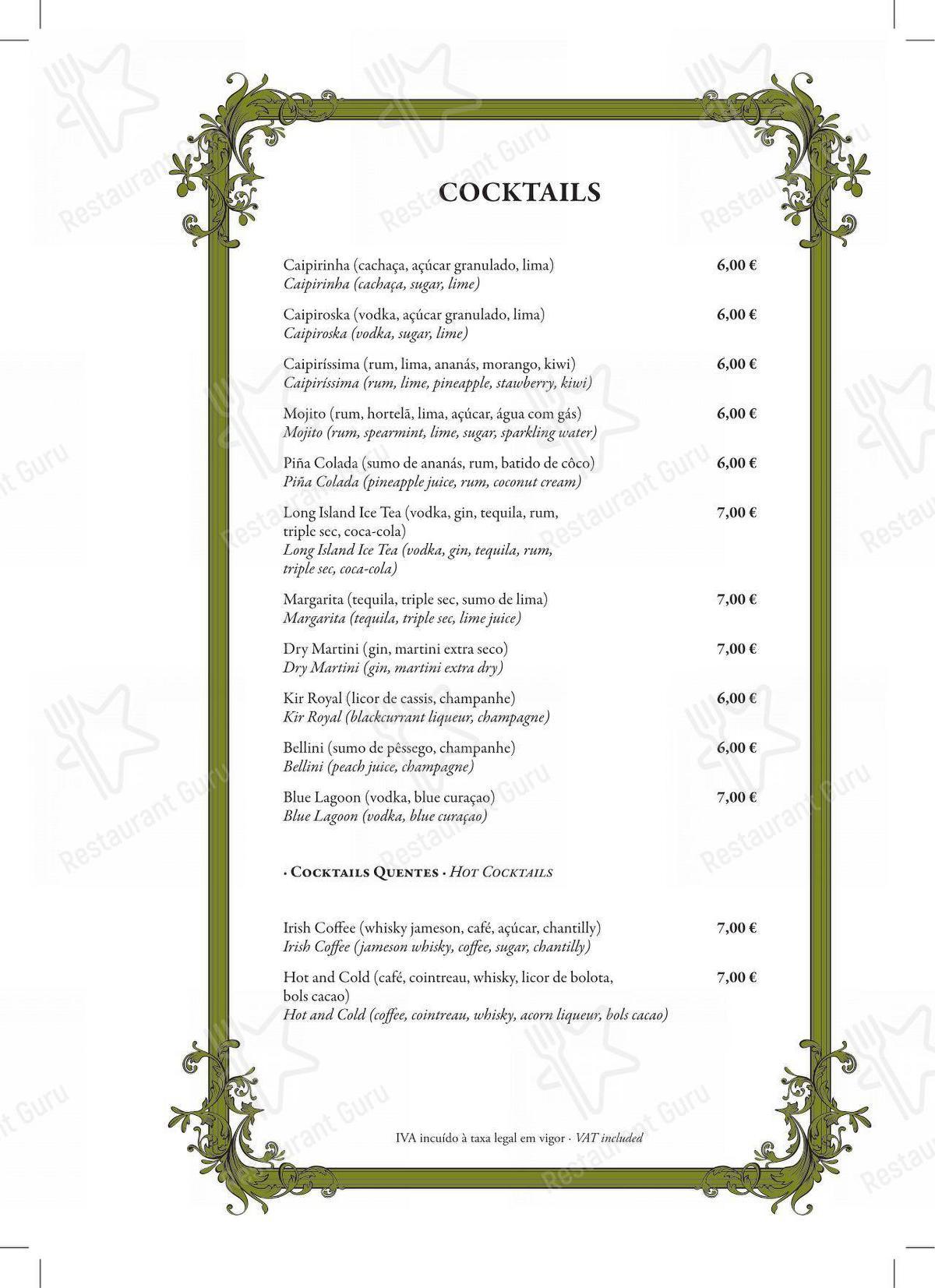 Restaurante Mercearia Eborim em Evora - Bar menu