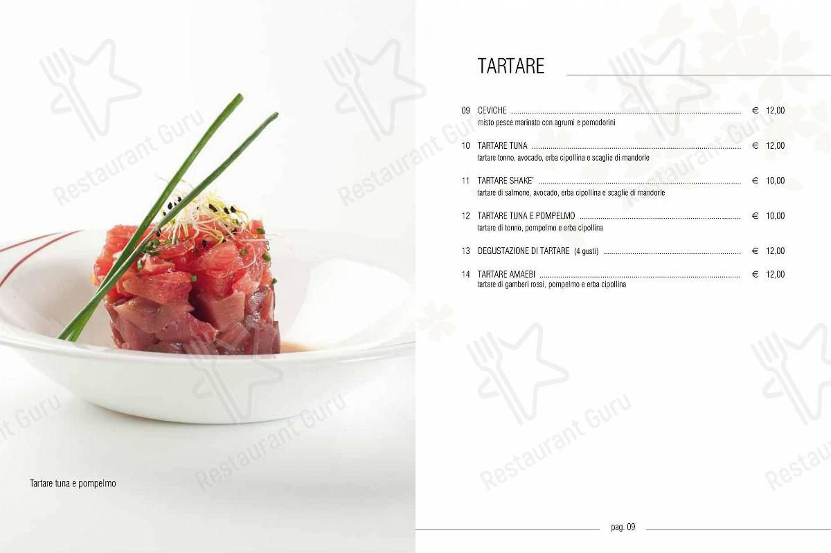 Sakura Fusion Experience menu - meals and drinks