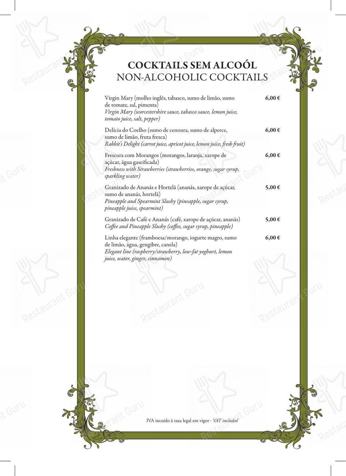 Bar menu para Restaurante Mercearia Eborim em Evora