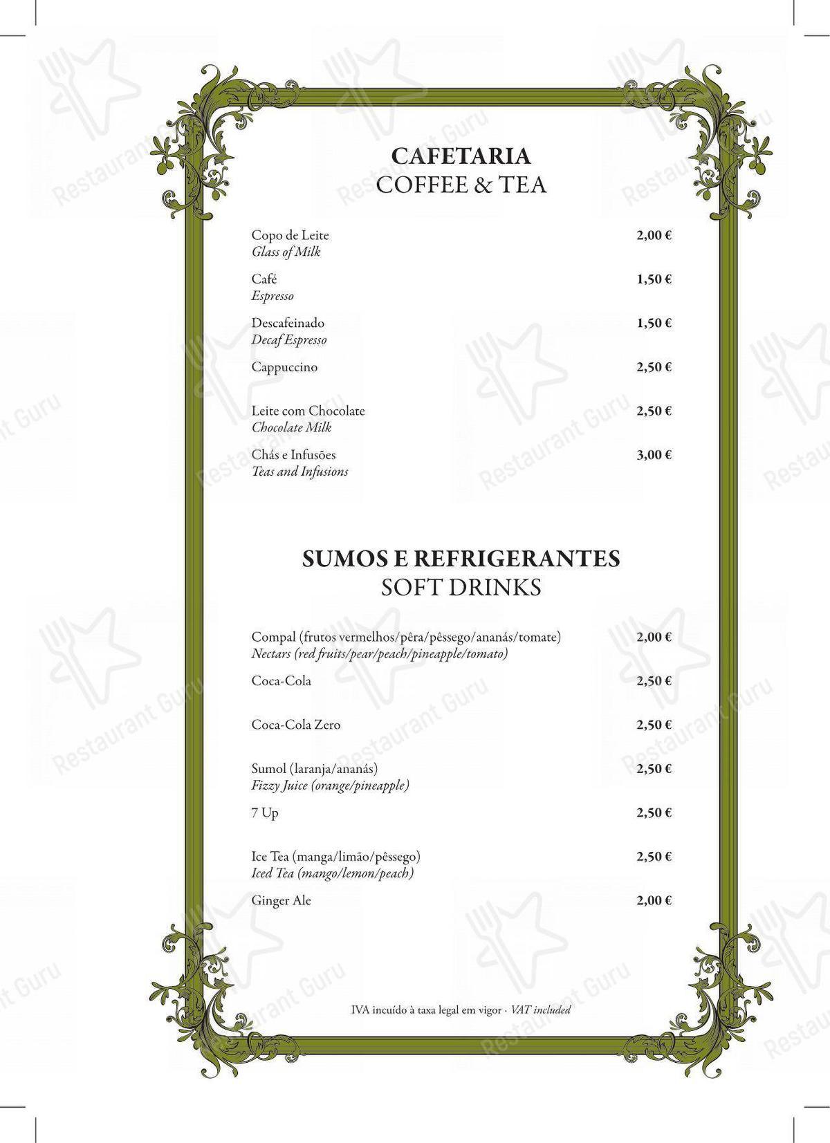 Restaurante Mercearia Eborim - Bar menu