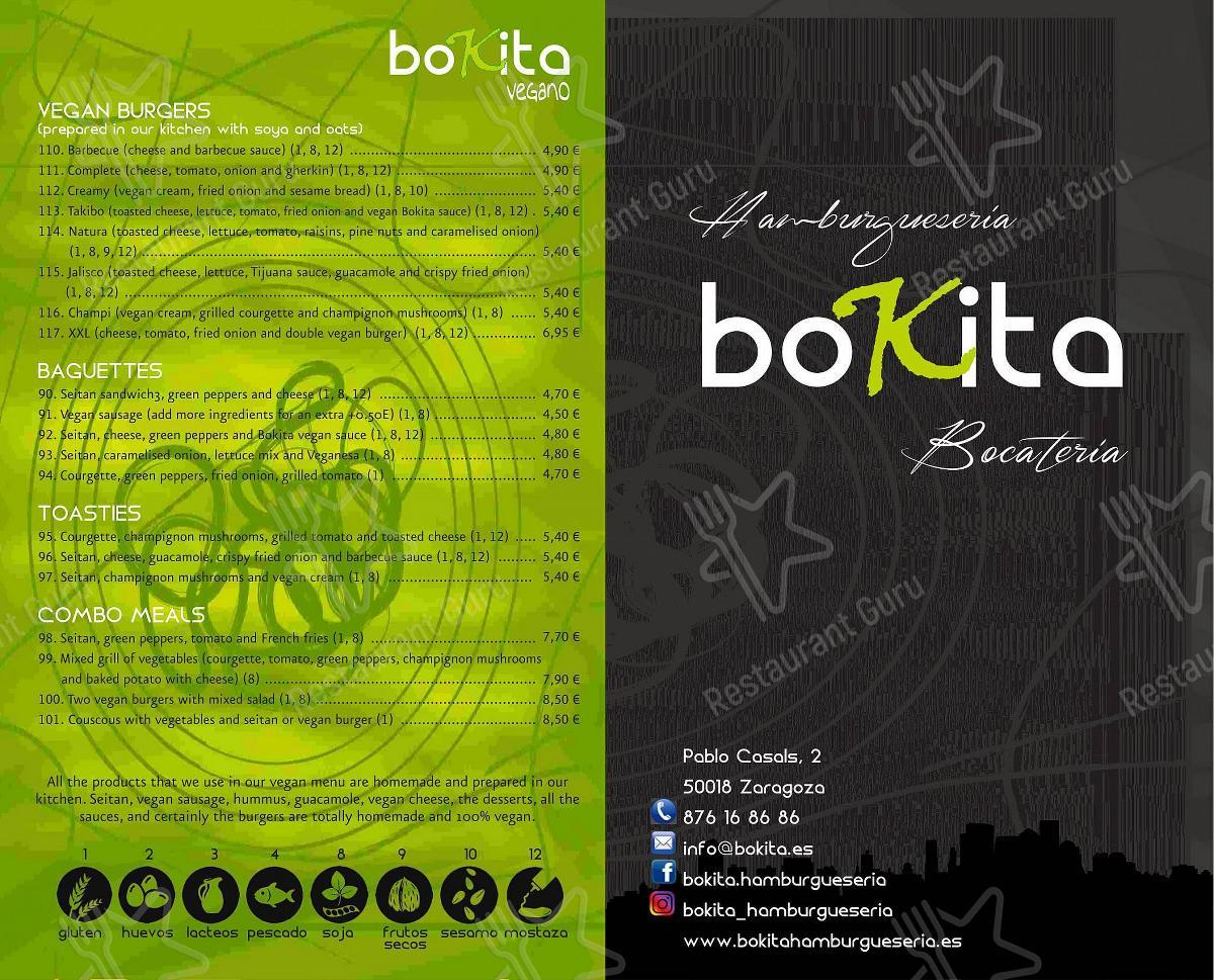 Mira la carta de BOKITA Hamburguesería