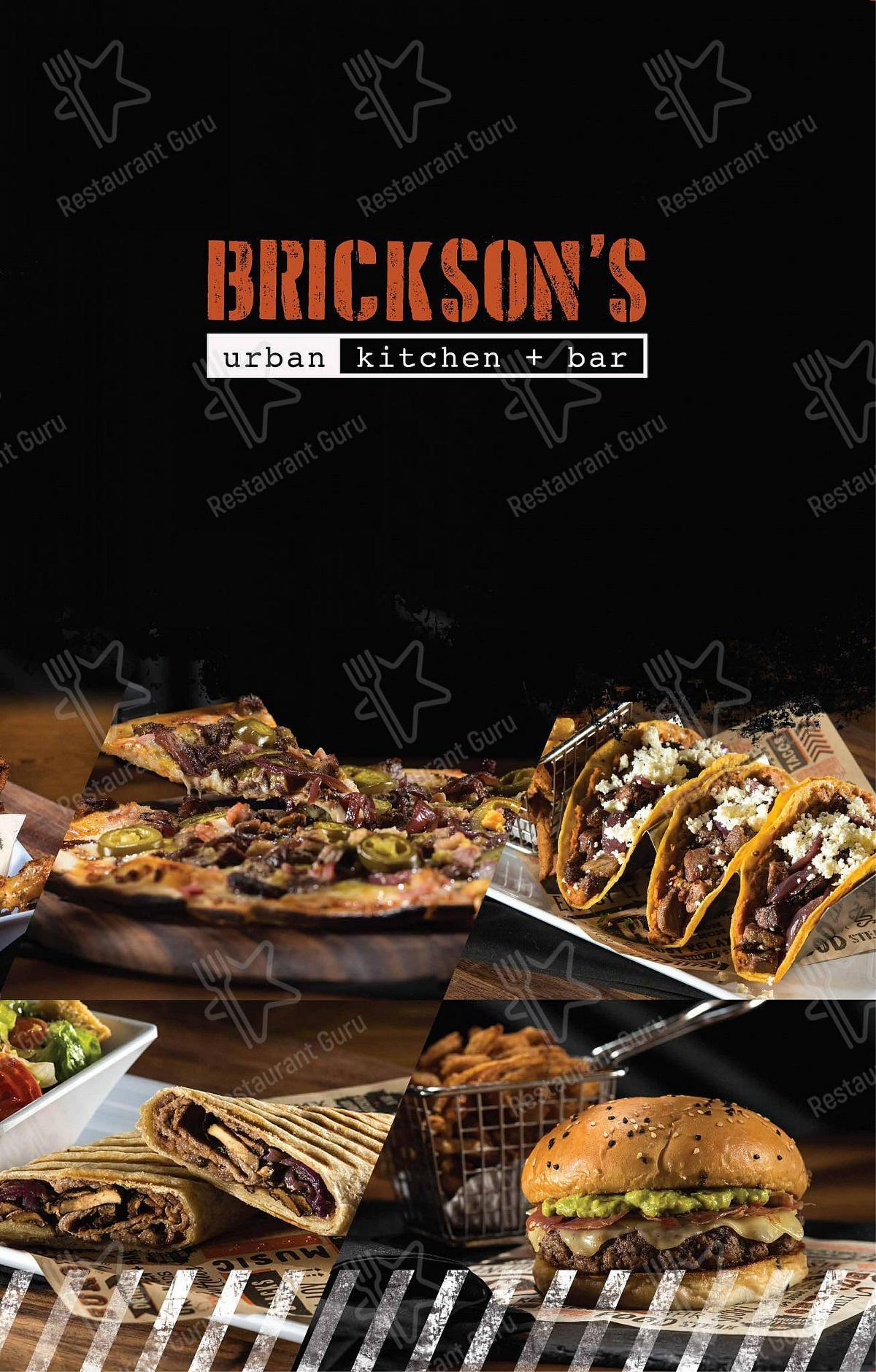 Carta de Brickson's Urban Kitchen + Bar restaurante