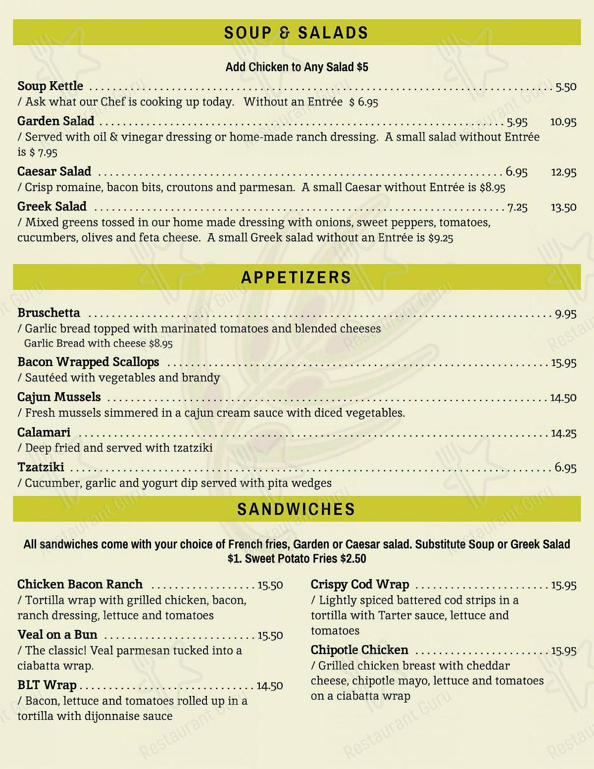 Menu for the ROMERO'S RESTAURANT restaurant