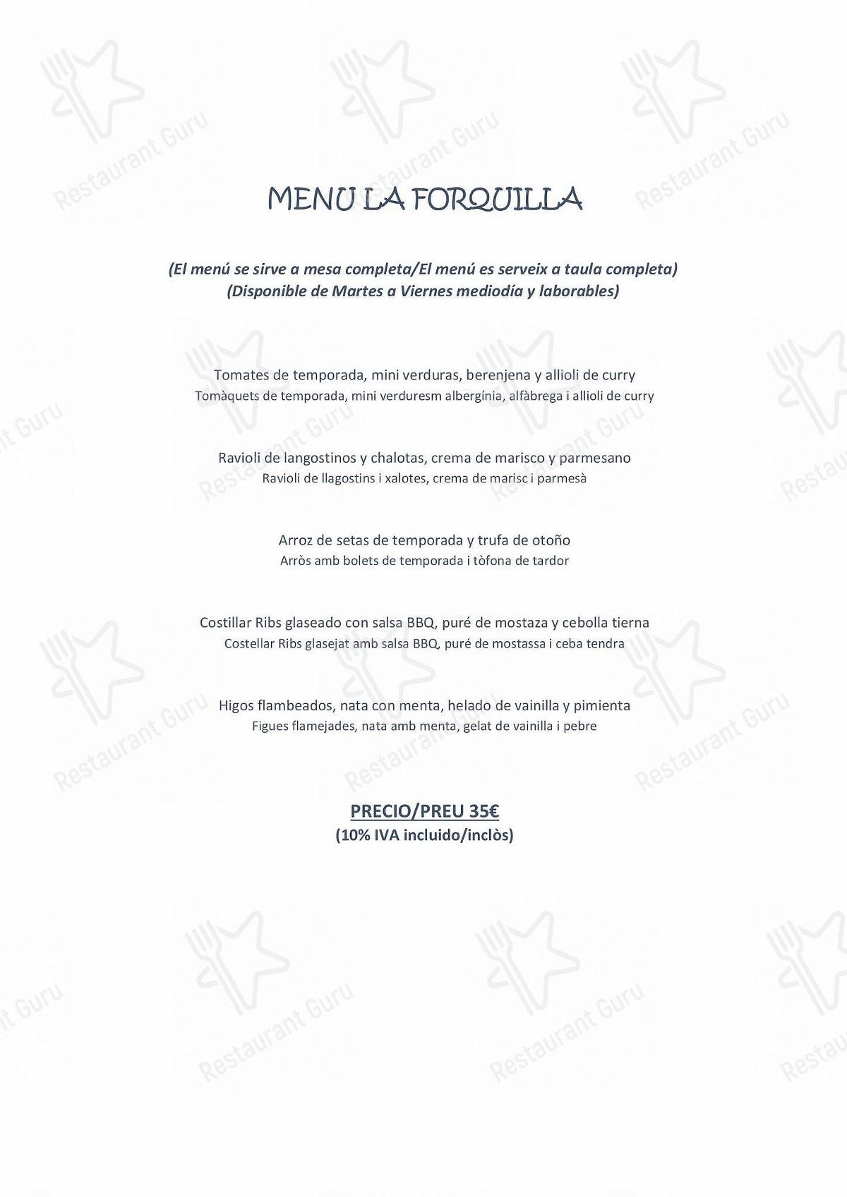 Mira la carta de La Forquilla Restaurant