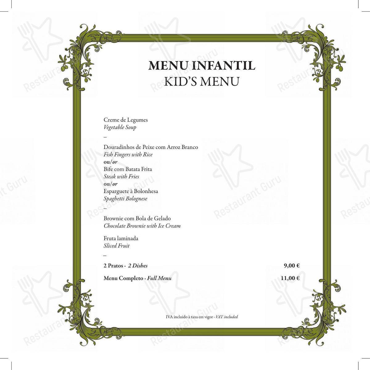 Restaurante Mercearia Eborim menu