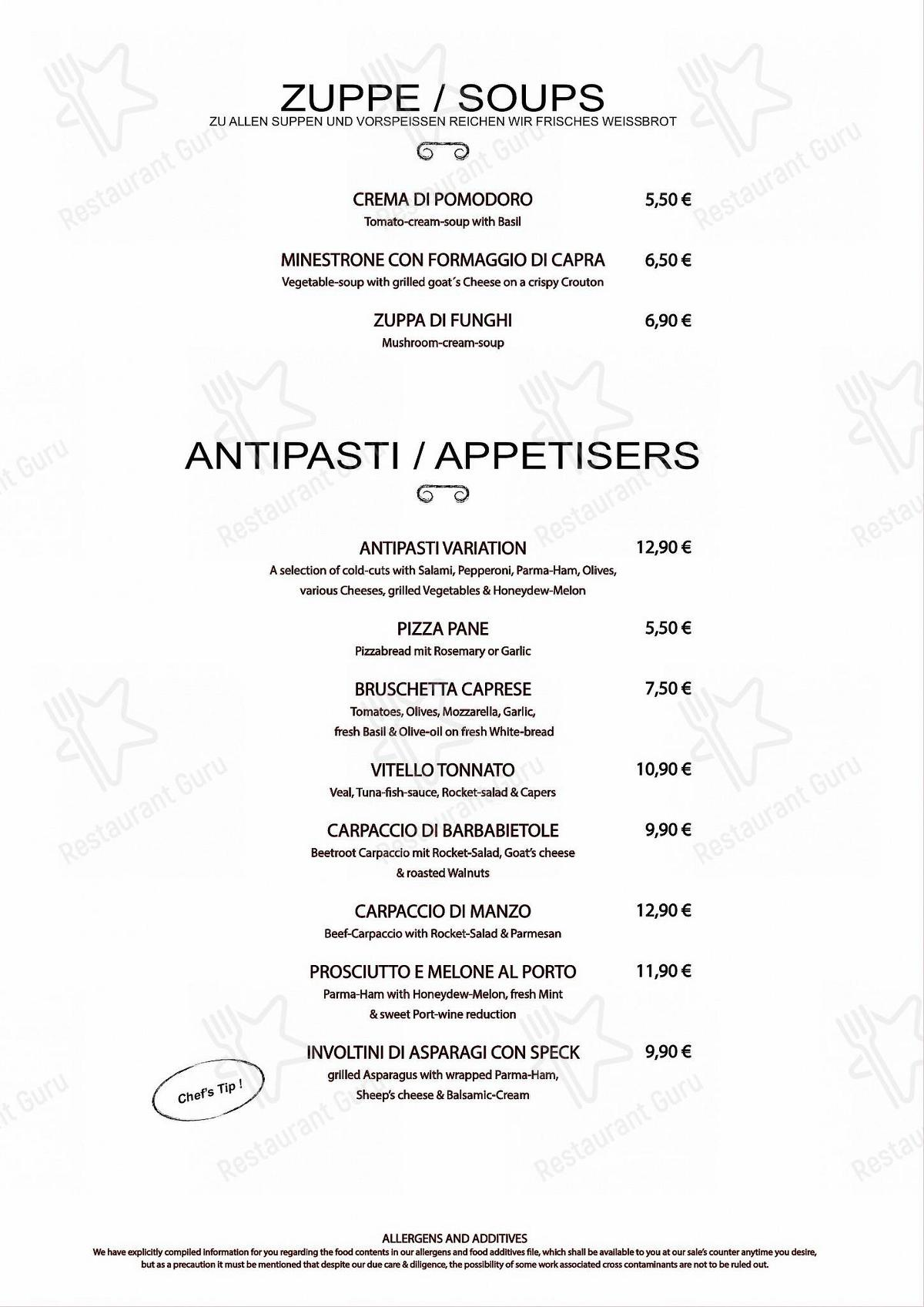 Speisekarte von Toskana Leipzig restaurant