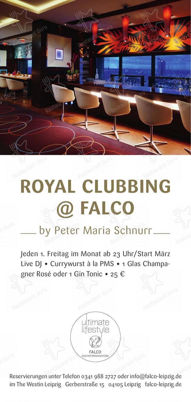 Carta de Falco pub y bar