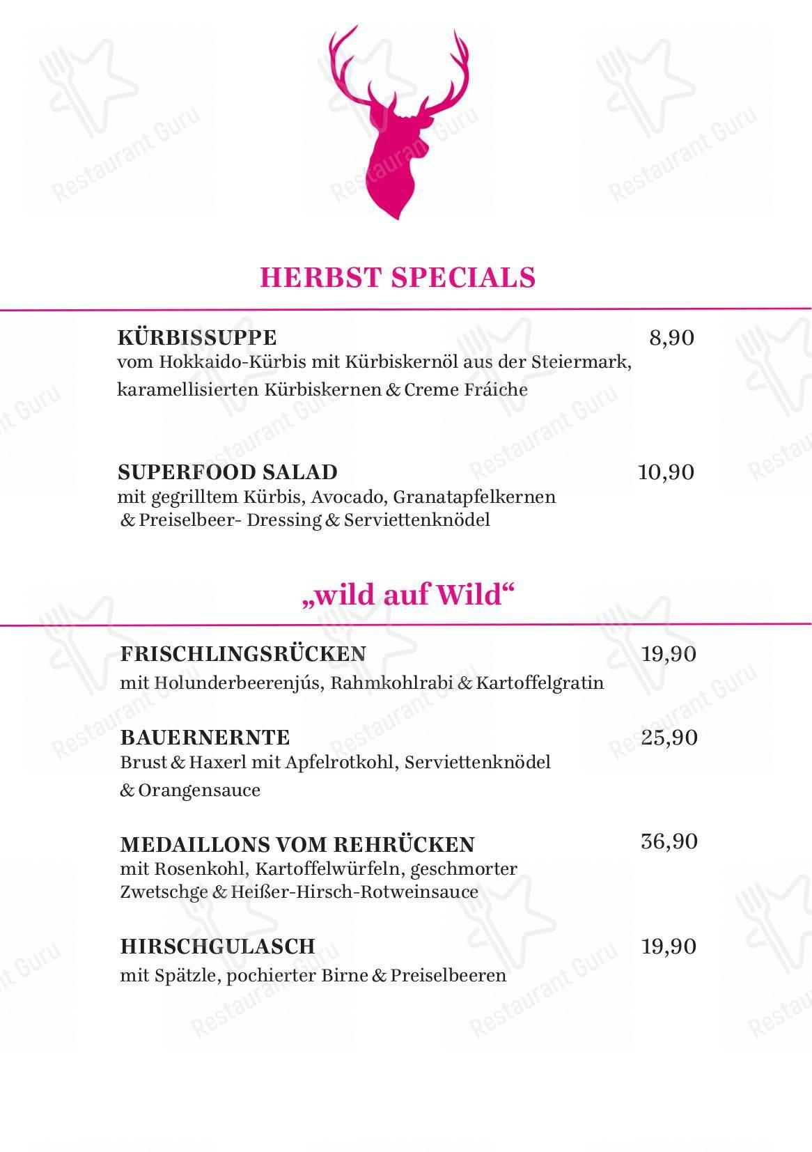 Speisekarte von Restaurant Jägerheim restaurant